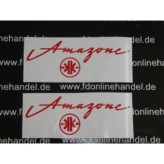 Kreidler Amazonelogo Tank Schriftzug Aufkleber Sticker Rot