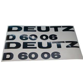 Deutz 6006 Aufkleber Emblem Sticker Haubenaufkleber Schriftzug Silber