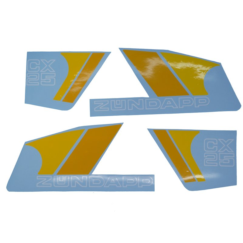 Z/ündapp K 80 Lacksatz Aufklebersatz Dekor Schriftzug Sticker Dekorbogen Typ 540-010 gelb-orange